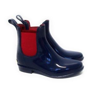 LAUREN RALPH LAUREN Navy Blue Rubber Rain Boots 6